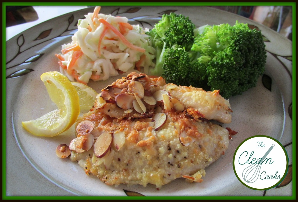 Clean Cooks Almond Crusted Tilapia