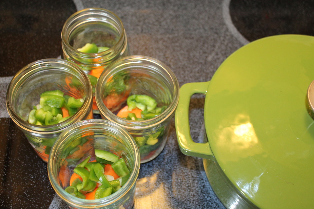 Mason jar veggies