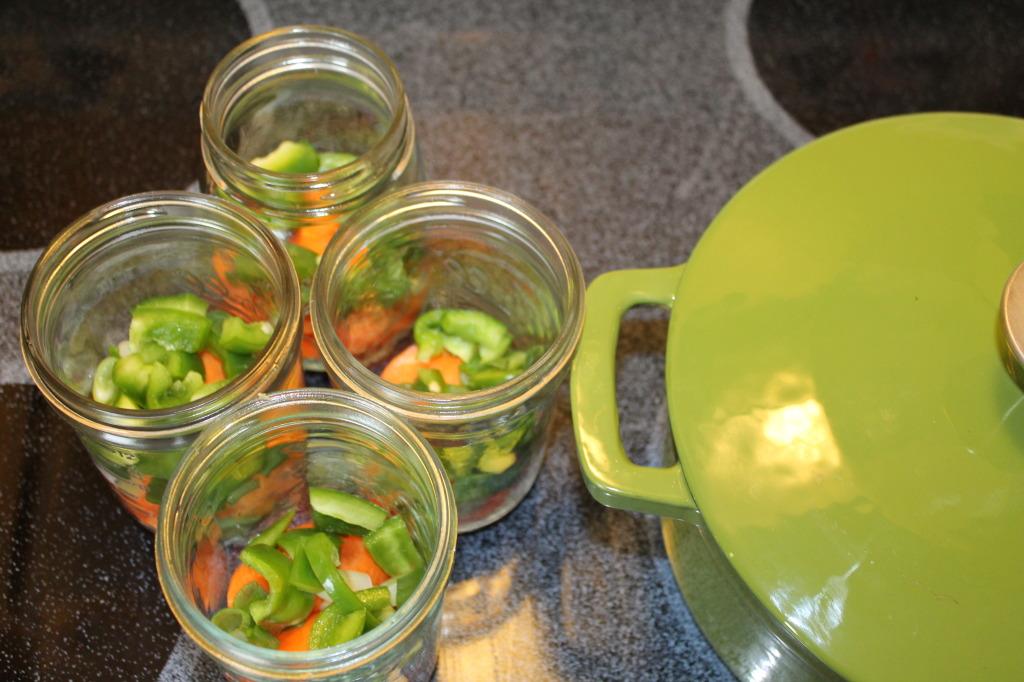 Mason jar veggies