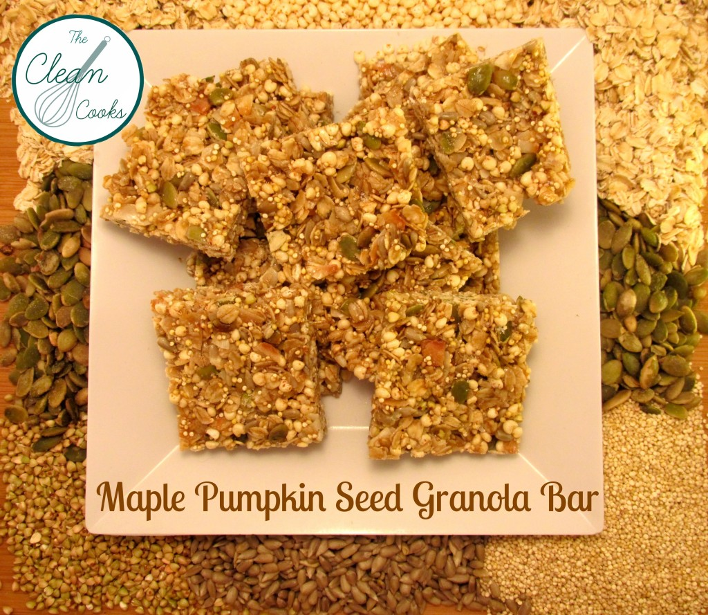 Maple Pumpkin Seed Granola Bar