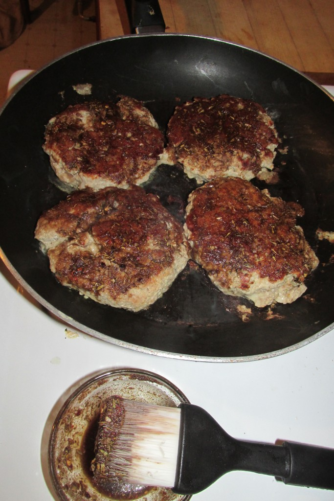 pan fried turkey burger