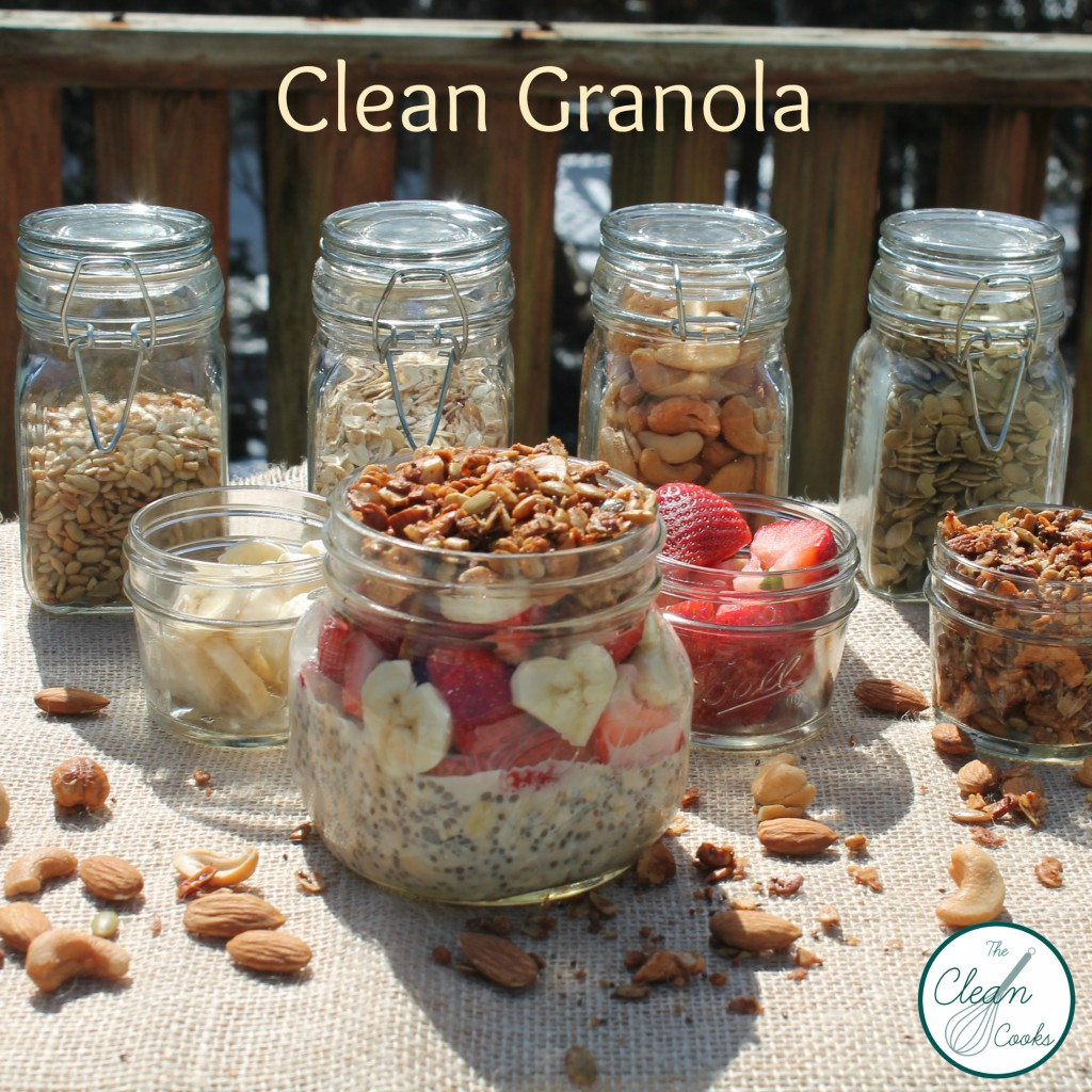 Clean Granola from www.TheCleanCooks.com