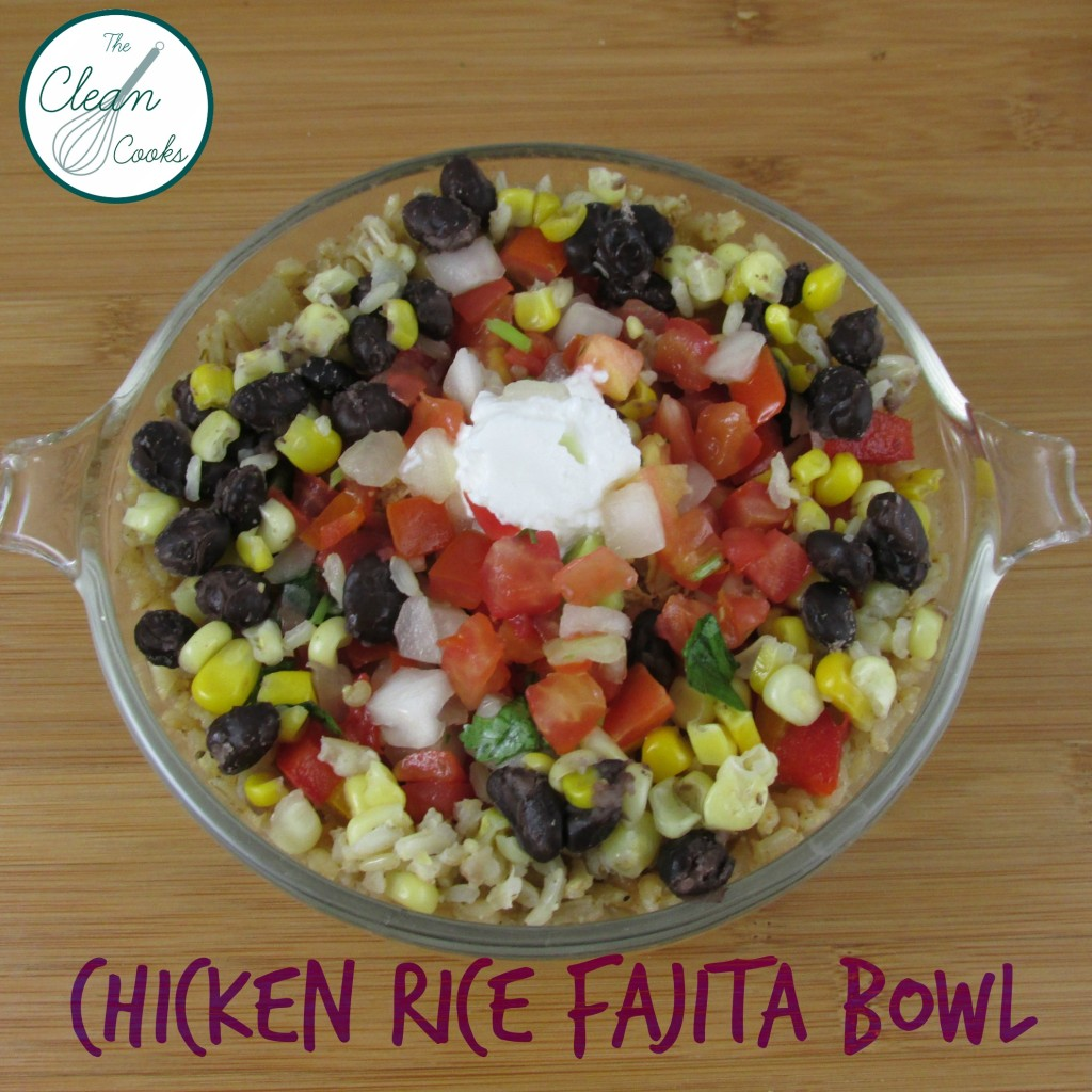 Chicken Rice Fajita Bowl