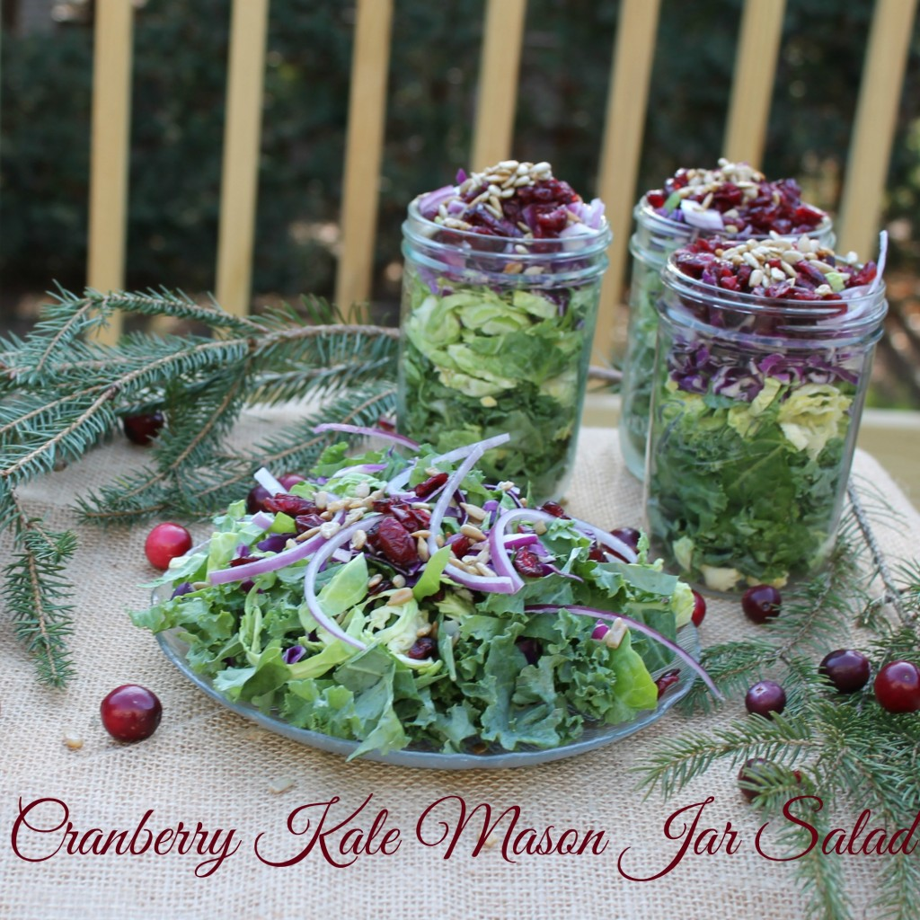 Cranberry Kale Mason Jar Salad